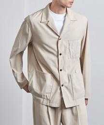 <UNITED ARROWS> 別丁布料 巴厘纱 襯衫式西裝外套