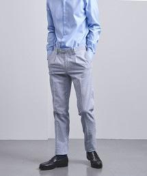 <UNITED ARROWS> 泡泡紗 直條紋 1單摺 長褲
