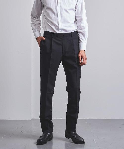 < UNITED ARROWS > 輕薄素材 羊毛 單摺 長褲 OUTLET商品