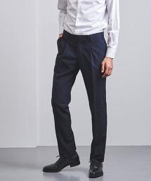 <UNITED ARROWS> 格紋 單摺 西裝褲