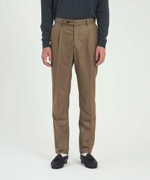 <UNITED ARROWS> 薩克森毛呢 側調節釦 長褲 R-MODEL