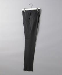 <UNITED ARROWS> 輕薄法蘭絨 灰色無摺西裝褲