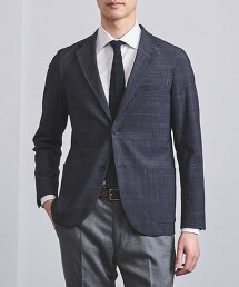 <SOVEREIGN> 深藍印花 無結構 西裝外套