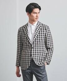 <SOVEREIGN> 小方格格紋   無結構 2釦 西裝外套