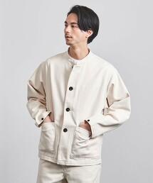 <UNITED ARROWS> 有機棉 襟扣領 工裝外套 日本製