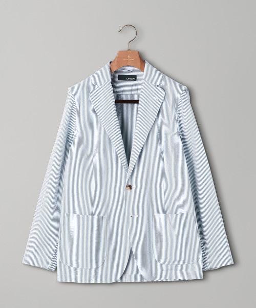 <LARDINI> 泡泡紗 直條紋 3B 西裝外套