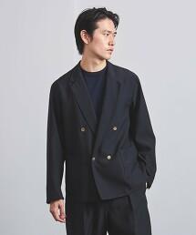 <UNITED ARROWS> 羊毛 金釦 雙排4釦 西裝外套 日本製造