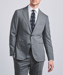 <UNITED ARROWS> 彈性夏季輕薄羊毛 2B 成套西裝