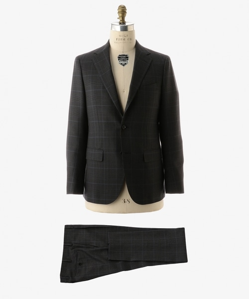 UADT 格倫格紋單排三釦輕薄舒適西裝