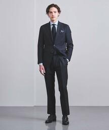 <CARUSO> 羊毛/馬海毛 深藍 2釦成套西裝 AIDA 義大利製