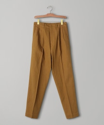 <QASIMI>駝色 2P 錐形褲