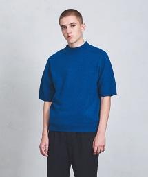 <Camoshita UNITED ARROWS> W/CA 微高領 短袖針織衫