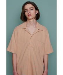 <Camoshita UNITED ARROWS > 純棉 橫條紋 開領 短袖 T恤 日本製