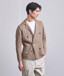 <Camoshita UNITED ARROWS>6B 雙排釦針織西裝外套
