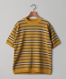 <Camoshita UNITED ARROWS> 複合橫條紋針織衫