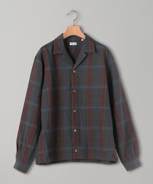 <Camoshita UNITED ARROWS>羊毛亞麻 馬德拉斯格紋 輕薄外套