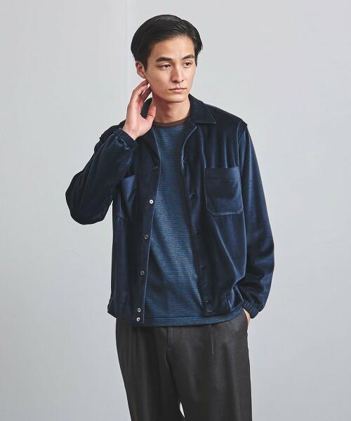 <Camoshita UNITED ARROWS> 天鵝絨 襯衫式夾克 日本製