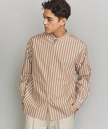BY 直條紋 立領 寬鬆版型 襯衫