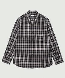 BY 極簡 花呢格紋寬版襯衫