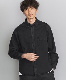 BY 重磅 黑色丹寧 寬版剪裁 襯衫