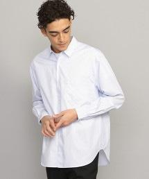 BY 藍直條紋寬版襯衫