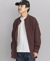 BY TANGO 府綢 立領 錐形剪裁襯衫 日本製造