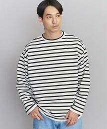 BY crisp cotton 寬版 橫條紋 T恤