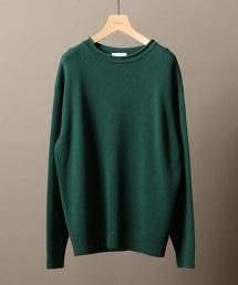 BY 羊毛/克什米爾山羊毛 寬版滾邊領針織衫