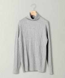 BY L&F 喀什米爾 麻花織 高領針織毛衣