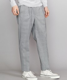 BY TR 格紋 1P 寬版9分錐形褲