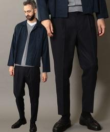 BY 粉筆條紋 1P 寬版 錐形褲