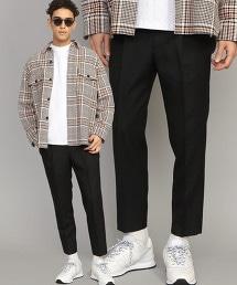 BY 輕薄素材 1P 寬版 錐形 九分褲