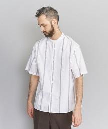 BY 直條紋立領寬版襯衫
