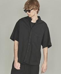 BY 輕薄 黑色丹寧 寬版襯衫