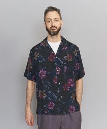 BY 深色夏威夷寬版開領襯衫