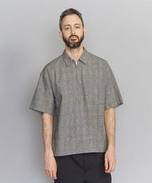 BY 格紋拉鍊式罩衫
