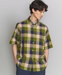 BY 格紋 寬版襯衫