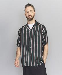 BY 多色直條紋寬版開領襯衫