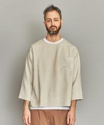 BY 仿麂皮寬版8分袖上衣