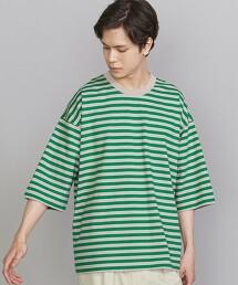 BY 緊密紡紗 寬錐形 橫條紋 T恤