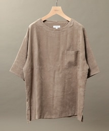BY 仿麂皮觸感 寬版 五分袖 棉質T恤