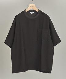 BY 二重織寬版5分袖上衣