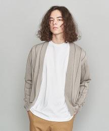 BY 直條紋 無鈕釦 對襟外套