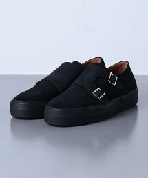 <UNITED ARROWS> 麂皮雙釦孟克休閒鞋