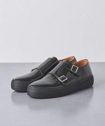 <UNITED ARROWS> 漆皮 雙環孟克鞋 休閒皮鞋 義大利製†