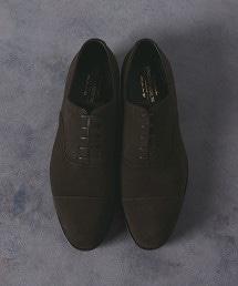 UDBS 麂皮橫飾皮鞋