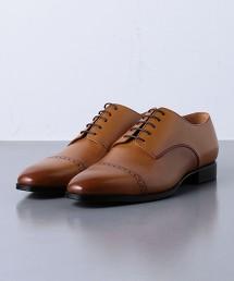 <UNITED ARROWS> 棕色 牛皮 雕花皮鞋 日本製