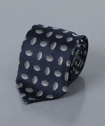 <FIORIO> 緹花 橢圓 領帶 義大利製