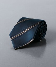 <ERRICO FORMICOLA> 斜紋織 相間直條紋 領帶 義大利製