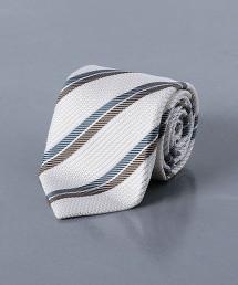 <Nicky> 平紋緯編布 斜條紋領帶